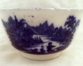 Antique Flow Blue Bowl, Nonpareil, Burgess & Leigh, England, circa 1891