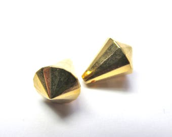 2 GOLDEN DROPS NACKLACE WITH 13/17 MM