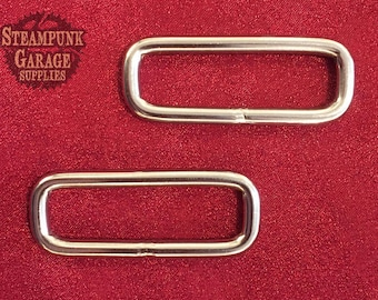 x2 Rectangle Welded Rings - Solid 316 Marina grade stainless!  (NOT plated)