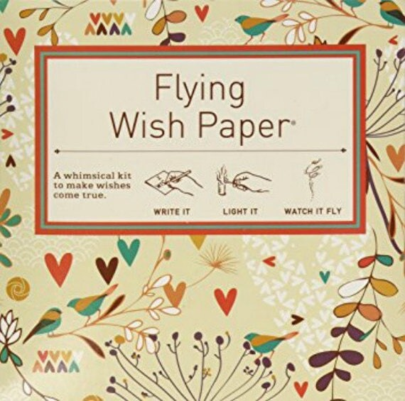 Flying Wish Paper - lovebirds design - package of 15 wishes, make a wish