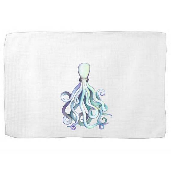 Octopus Kitchen Towel,Sea Creature Dish Towel,Tea Towel,Flour Sack Towel,Octopus Dish Towel,Flour Sack Kitchen Towel,Flour Sack Dish Cloth