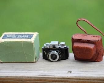 Mykro-Fine Color 16 Smallest Precision Camera & Genuine Pigskin Case in Box, Mini Camera