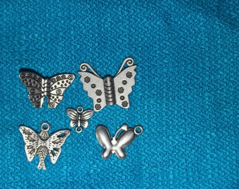 Set of 5 money butterflies of different sizes