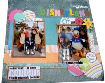 Scrap page to personalize with 1 photo 30cmx30cm
