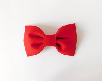 Red Dog Bow Tie, Red Bow Tie, Wedding Dog Bow, Red Collar Flower, Red Cat Bow Tie, Red Collar Bow, Red Dog Collar Bow