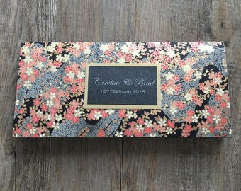 SAMPLE - {Night Garden} DL Wedding Invitation made with floral gold print