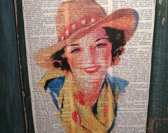 Cowgirl Wood Art