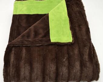 Chocolate & Jade Blanket