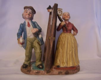 Old Woman and Old Man Figurine, Japan