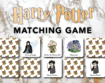 Harry Potter Matching Game, Physical Set, Harry Potter Baby, 26 sets of pictures, 3x3 cards