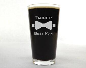 Groomsman Pint Glass - Groomsman Glass - Custom Beer Glass - Wedding Pint Glass - Beer Glass - Custom Pint Glass - Pint Glass - Beer Glass
