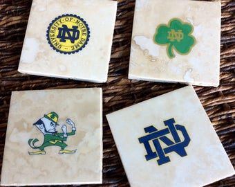 Notre Dame Football Coasters