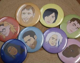 Sense8 Character Pinback Buttons