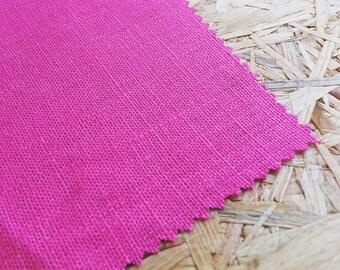 Pink Fabric- Hot Pink- Pink Linen- UK Seller- Bright Pink- Pink Curtain Fabric- Girls Fabric- Girls Room- Plain Pink Fabric- Plain Linen