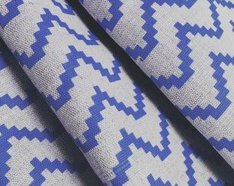 Cobalt Blue Curtains  Made To Measure   Zig Cobalt  Scandi  Blue Curtains