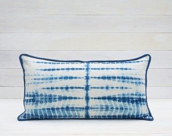 Disrupted Stripes Shibori Pillow Cover