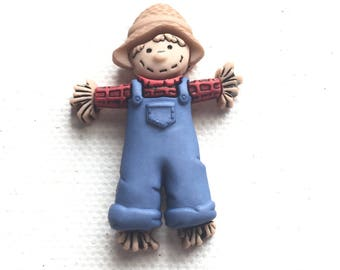 Scarecrow Pin,  Scarecrow Tie Tack, Cute Scarecrow Pin, Cute Scarecrow Tie Tack, Strawman Pin, Strawman Tie Tack, Thanksgiving, Fall Harvest