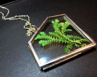 Valentines day Gift ,Real fern necklace,christmas gifts,botanical necklace, bridal jewelry,pressed fern pendant
