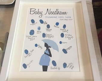 Personalised Fingerprint Guestbook for Baby Shower