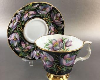 Royal Albert Provincial Flowers Prairie Crocus Bone China Teacup England