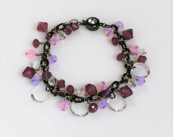 Swarovski Crystal Bracelet; Swarovski Bracelet; Swarovski Jewelry; Crystal Bracelet; Vintage Style Bracelet; Victorian Style Bracelet