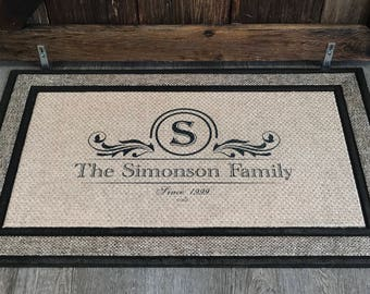 Personalized Door Mat, Doormat, Custom Door Mat, Personalized Welcome Mat, Wedding Gift, Personalized Doormat, Housewarming gift, Family