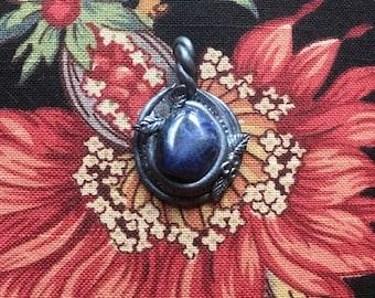 Silver Lapis Lazuli Amulet Pendant