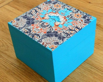 Decoupage wooden trinket/jewellery/gift/decorative/keepsake /storage box