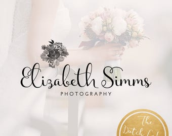 Premade Photography Logo Design - Delivered in Black, White & Gold Color - Design #5 - Elizabeth Simms