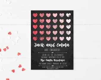 Engagement Party Invitation, Engaged, Engagement Party Invites, Engagement Party, Digital Invitations, Printable Invites, Engagement [131]