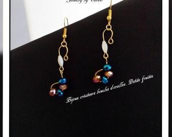 Jewelry designers earrings. Small fruity