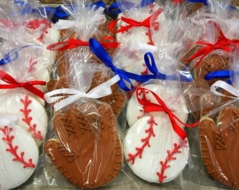 Baseball & Glove Decorated Sugar Cookies