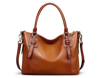 "Handbag Genoa 15 ""made of genuine leather"