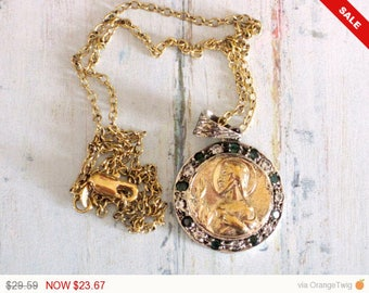 Sale - Christmas in July Religious Necklace, Pendant Necklace, Religious Jewelry, catholic jewelry, catholic gifts, christian jewelry, chris
