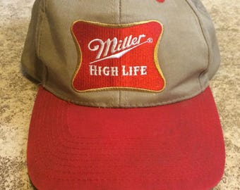 Vintage Miller High Life Beer Snapback Hat
