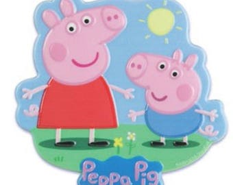 Peppa Pig Cake Topper Plaque