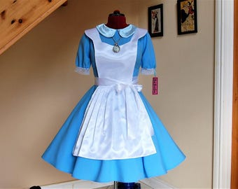 Alice in Wonderland Dress classic edition ,Alice Halloween Costume ,Alice Cosplay Costume - Blue Dress