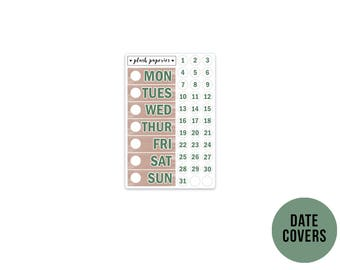 DATE COVERS   Relax   Planner Stickers    Add on   Matte