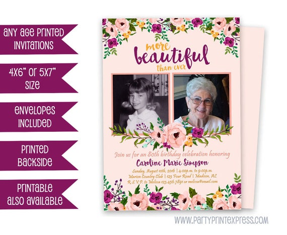 Woman Birthday Invitations