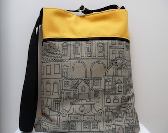 "SAC bandoulière en tissu ""city walk"""