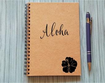 Travel Notebook, Aloha - 5 x 7 Journal, Adventure Notebook, Travel Journal,  Diary, Hawaiian Adventures, Hawaii