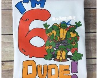 Ninja turtle birthday shirt