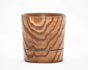 Exlusive handmade WOODEN WHISKY GLASS Whisky glass of natural Elm wood  #W1