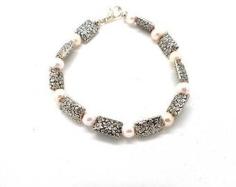 Bracelet costume jewelry rose flower charms
