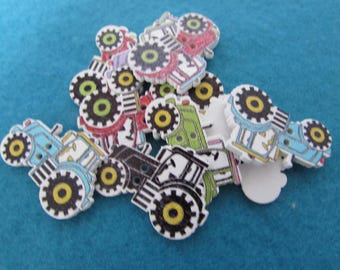 Wooden Tractor Buttons