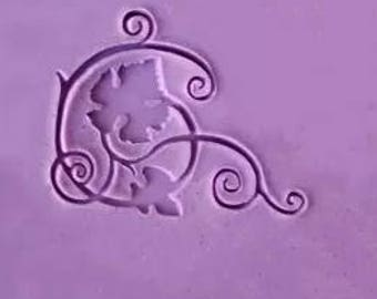Grape vines soap stamp acryic soap stamp