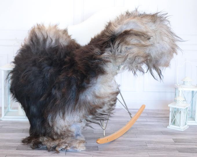 Icelandic Sheepskin   Real Sheepskin Rug   Gray Brown Sheepskin Rug   Fur Rug   Christmas Decorations #ISLA2
