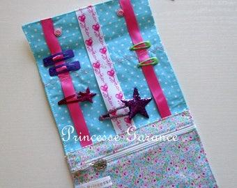Christmas, birthday * bag, hair clip, elastic, pretty floral cotton pouch