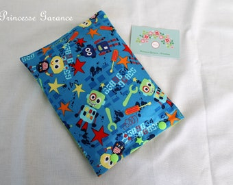 Heating pad with cotton, organic flax seeds, robots, in STOCK