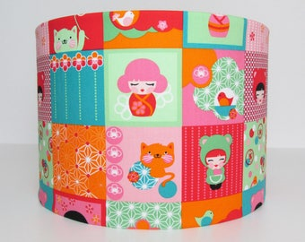 Pink and Red Dolls Lampshade